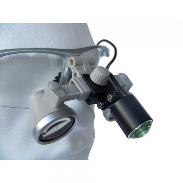 Бінокулярний збільшувач ECMG-3,0x-RD ErgonoptiX мікро Галілея з освітлювачем D-Light micro XL та УФ фільтр