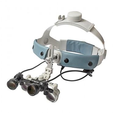 Бінокулярний збільшувач ECMG-3,0x-RD ErgonoptiX мікро Галілея з освітлювачем D-Light Duo HD
