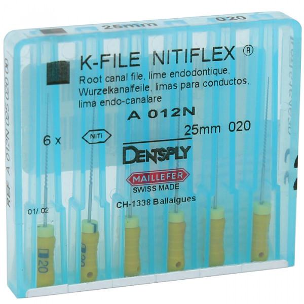 К-файлы NITIFLEX®  25mm,Dentsply Maillefer, 6 шт/уп