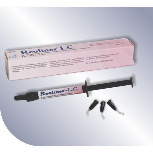 Reoliner-LC (Реолайнер-ЛЦ) композиционный прокладочный цемент, шприц, 2,2 г, Latus