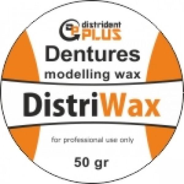 Воск моделировочный для бюгельных протезов, dentures modelling wax, 50гр, Distrident Plus