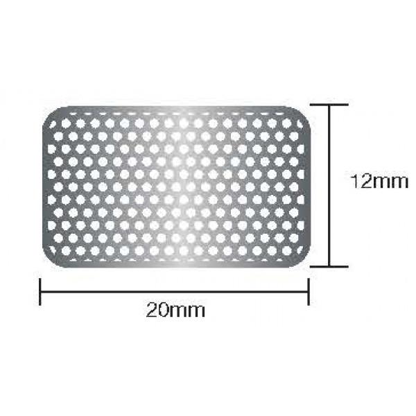 Титановая сетка 12mmx20mm