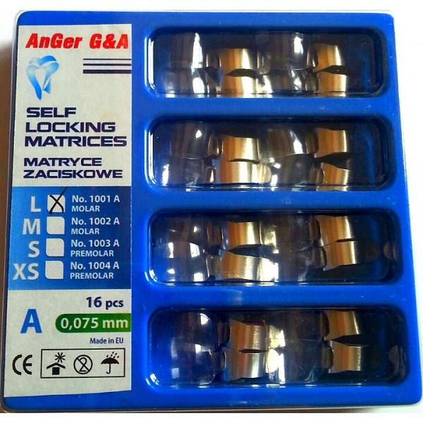 Самоблокирующаяся матрица тип A, 0.075 мм, 16 шт, AnGer