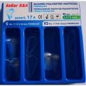 Лавсановая профелированная матрица, ассорти тип А, 0.075мм, 40шт, AnGer