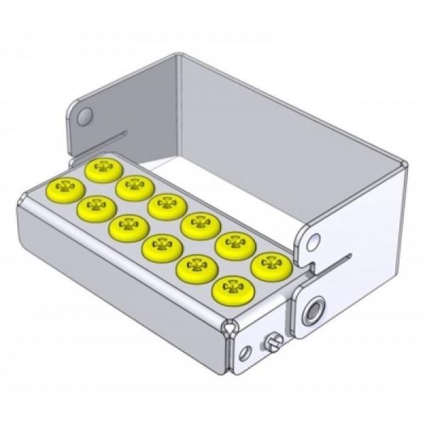 """Касета автоклавируемая (12 отверстий) """"Plug'In 12 holes 30mm - yellow"""", NICHROMINOX"""