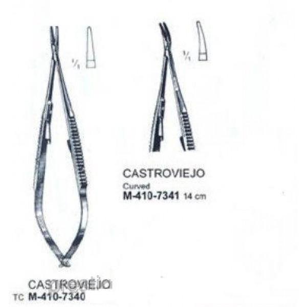 М-410-7340 Иглодержатель (Castroviejo) 14 см,Medisporex (Пакистан)